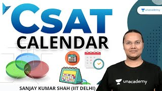 Calendar | CSAT Aptitude | Crafk UPSC CSE/IAS 2021 | Sanjay Kumar Shah