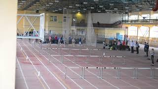 Финал на 60 м с барьерами, девушки