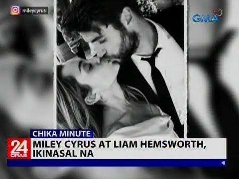 Miley Cyrus at Liam Hemsworth, ikinasal na