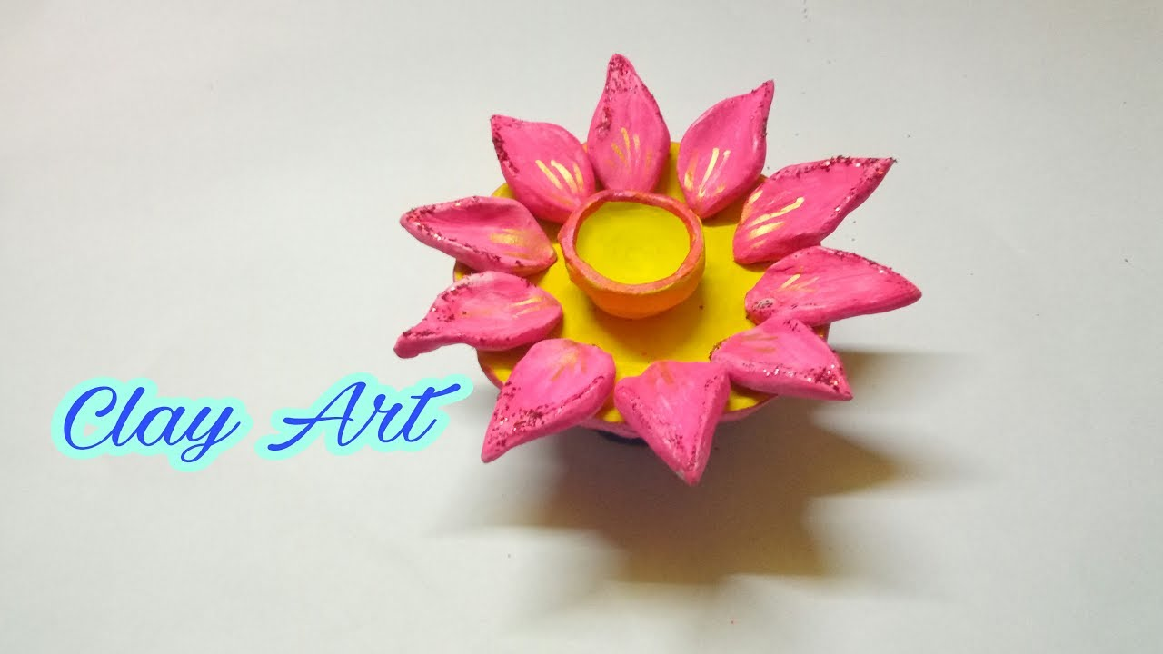 How To Make Hand Made Diya Clay Art Clay School Project How To
