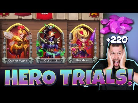 JT's F2P Hero Trials ON ANOTHER LEVEL Castle Clash