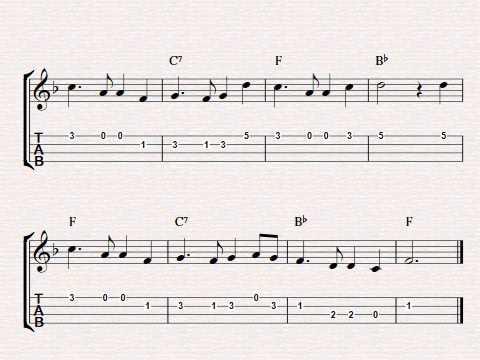 Free easy ukulele tablature sheet music, Auld Lang Syne - YouTube
