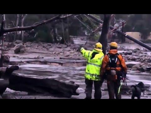 Search Continues For California Mudslide Victims