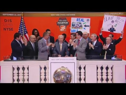 College GameDay gang rings opening bell at NY Stock Exchange | ESPN