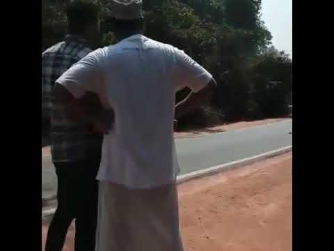 Gas tanker gas leakage rescue footage near madanthyar