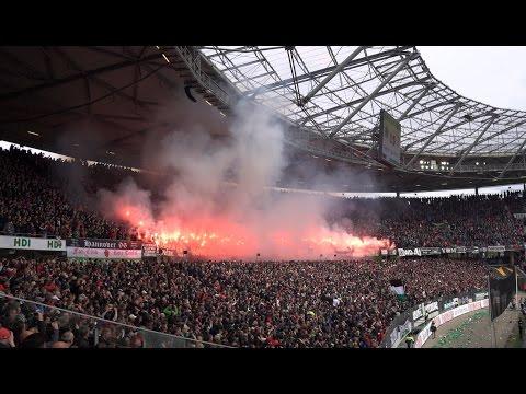 Hannover 96 - Eintracht Braunschweig, Pyroshow und Stimmung beim Niedersachsen Derby 4K