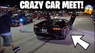 I made JERMELL CHARLO bring HIS CARS to a car meet !! CRAZY
