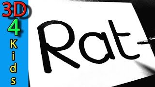Turn word into cartoon  for Kids very funny ! RAT wordtoon #60
