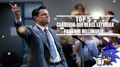 5 carreras  millonarias