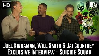 Joel Kinnaman Will Smith amp Jai Courtney Exclusive Interview - Suicide Squad