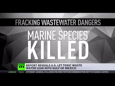 Gulf of Fracking:  76bn gallons of toxic waste water reportedly dumped into Ocean