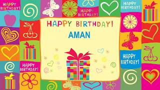 Aman birthday Card  - Happy Birthday AMAN
