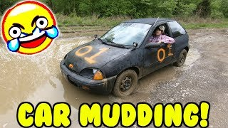 MUDDING IN A CAR!
