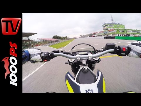 Husqvarna 701 Supermoto Top Speed | Rennstrecke Brünn 2016