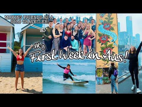 A WEEK IN MELBOURNE! Making Friends Solo Travelling, Hostel Life & A HOSPITAL visit?! #AusVlog2