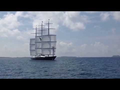 Maltese Falcon taking in sail