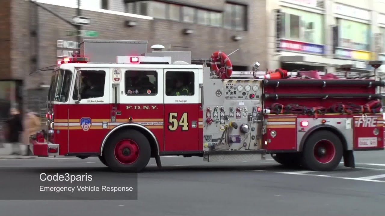 Fdny Engine 54 Responding From Quarters Youtube