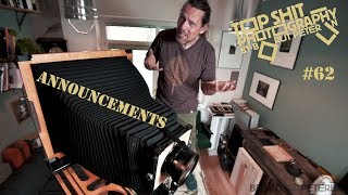 Announcement, workshops, guillotine shutter, give away gift and the vlog #62