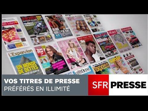 SFR Presse, vos titres de presse préférés en illimité !