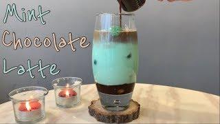 [음료만들기] 민트초코라떼 _ Mint Chocolat…