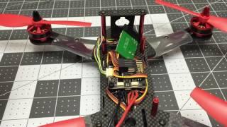 AKASO F250A FPV RC Racing Drones QAV 250 CC3D Flight Controller review