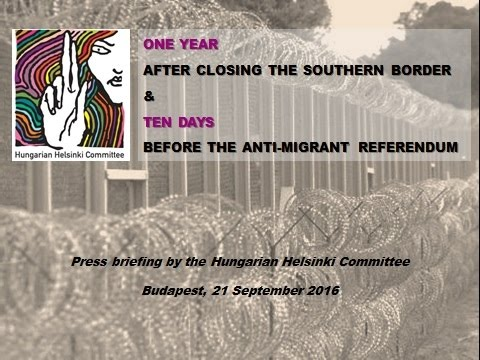 Ten days before the anti-migrant referendum - Press briefing