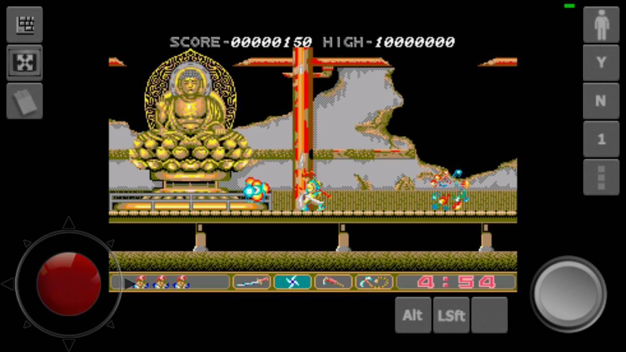 Ninja Spirit (Atari ST) Android Touchscreen Failplay