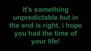 green day   time of your life with lyrics