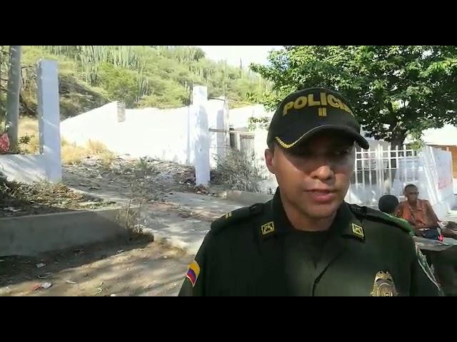 Teniente Andrés Ramírez, comandante de la Estación de Policía de Santa Marta
