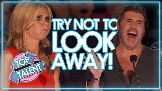 TRY NOT TO LOOK AWAY CHALLENGE!! MOST Dangerous Auditions On Got Talent Auditions!