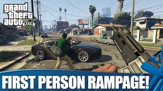 Grand Theft Auto V on PS4: First Person Gameplay (1080p)