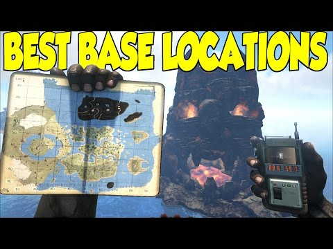 Ark Survival Evolved Best Base Locations For The CENTER MAP & Sick Cinematic Views
