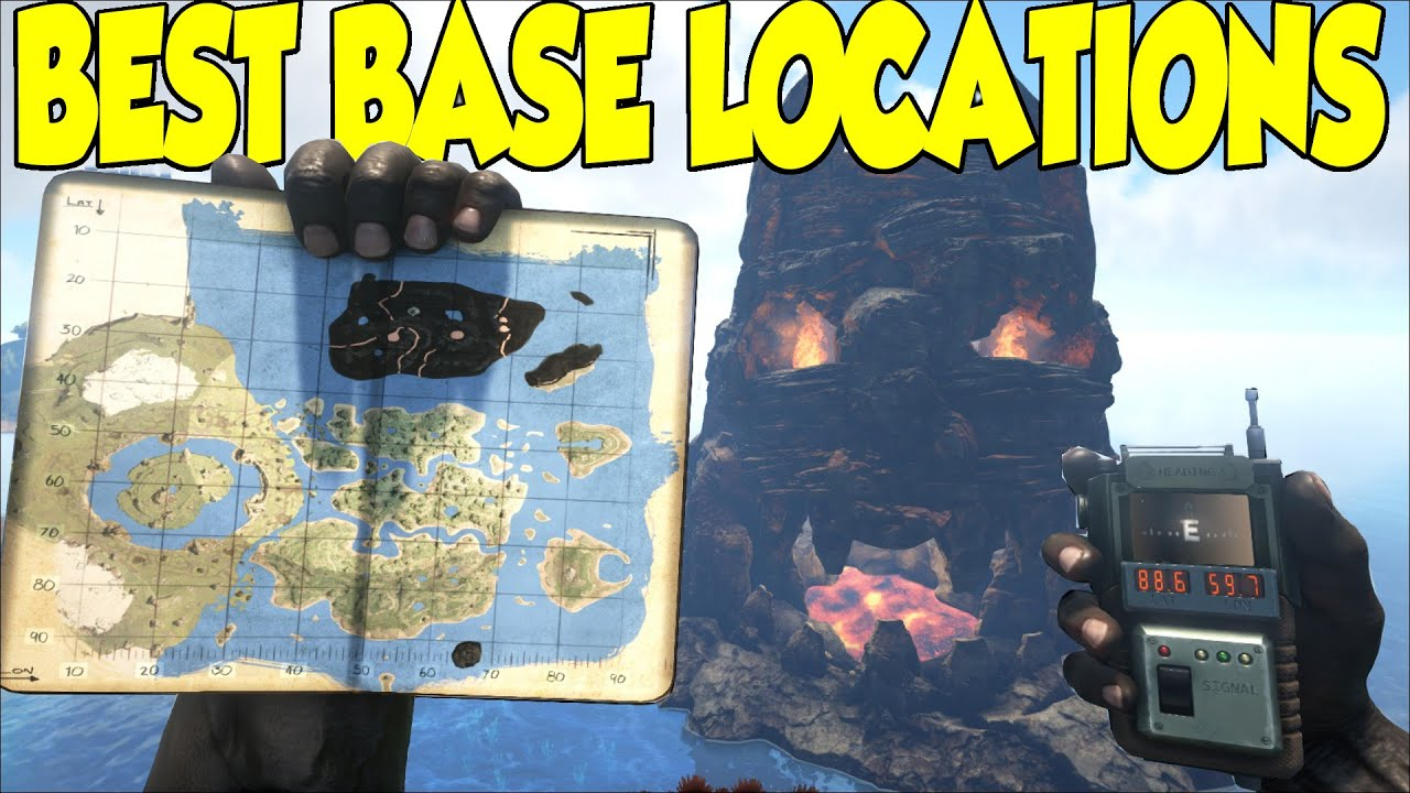 Ark Survival Evolved Best Base Locations For The CENTER MAP U0026 Sick  Cinematic Views   YouTube