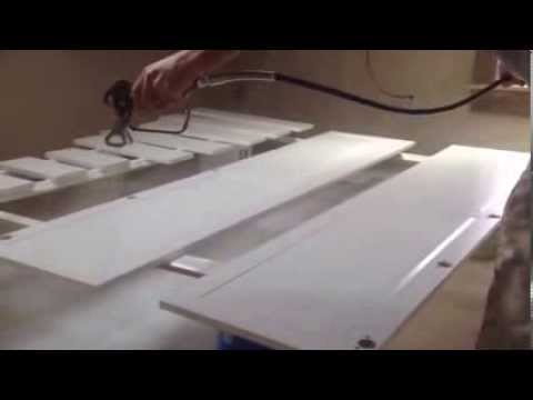 How to Airless Spray Paint Kitchen Cabinets - Refinish Old Peeling Painted Finish