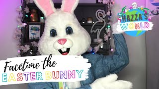 Facetime with the easter bunny! | hazza's world