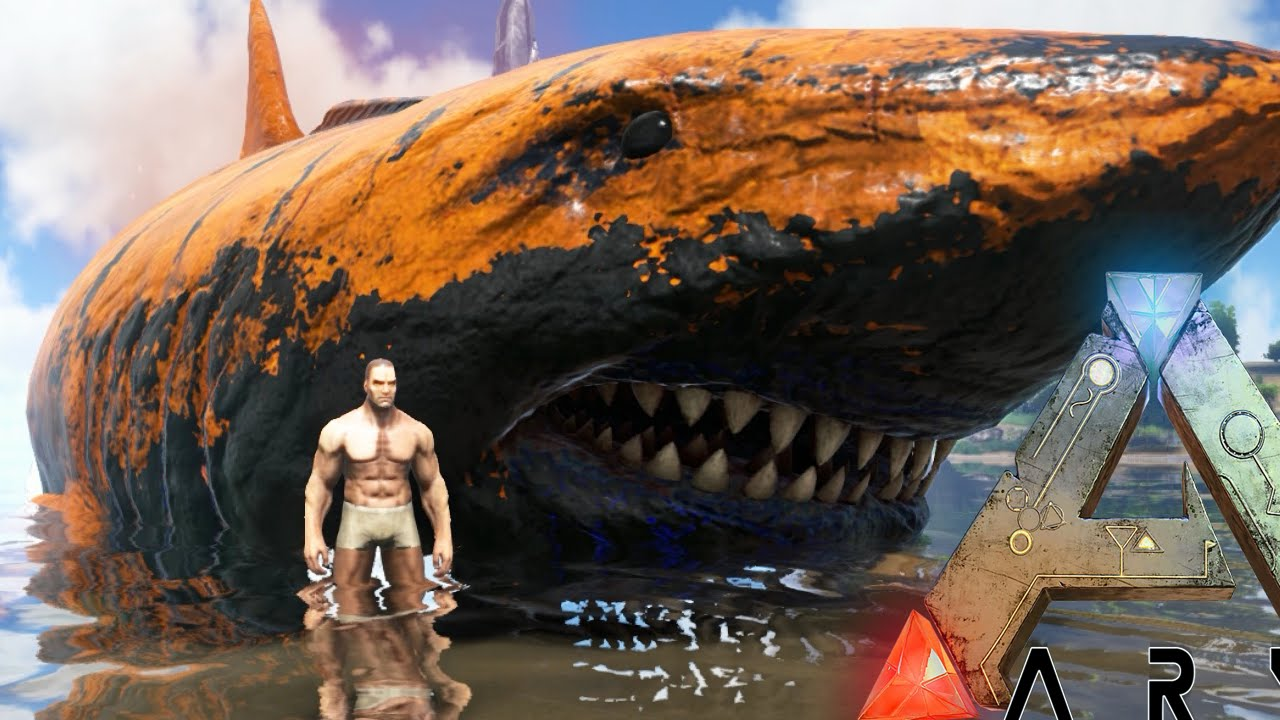 Ark survival evolved mega megalodon giant angler fish for Angler fish ark