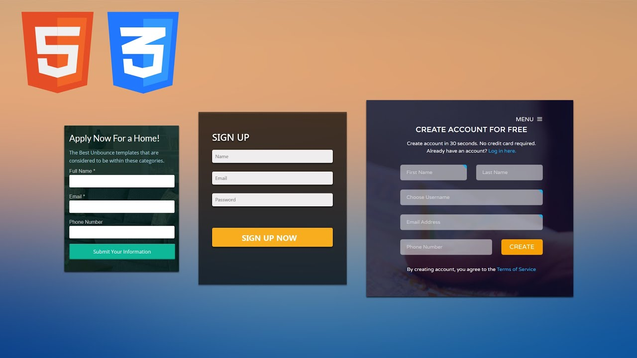 Superbe Learn To Create An HTML And CSS3 Landing Page Design