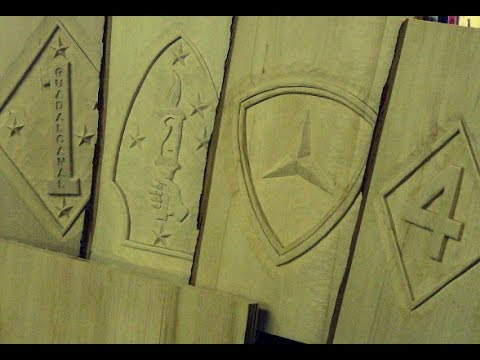 United States Marine Corps, Divisions, hand carved - YouTube