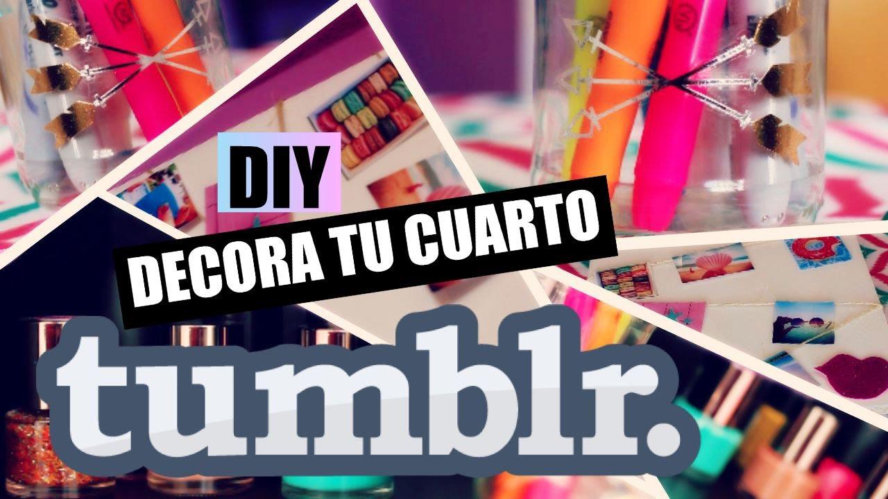 Diy decora tu cuarto tumblr youtube for Como personalizar tu cuarto