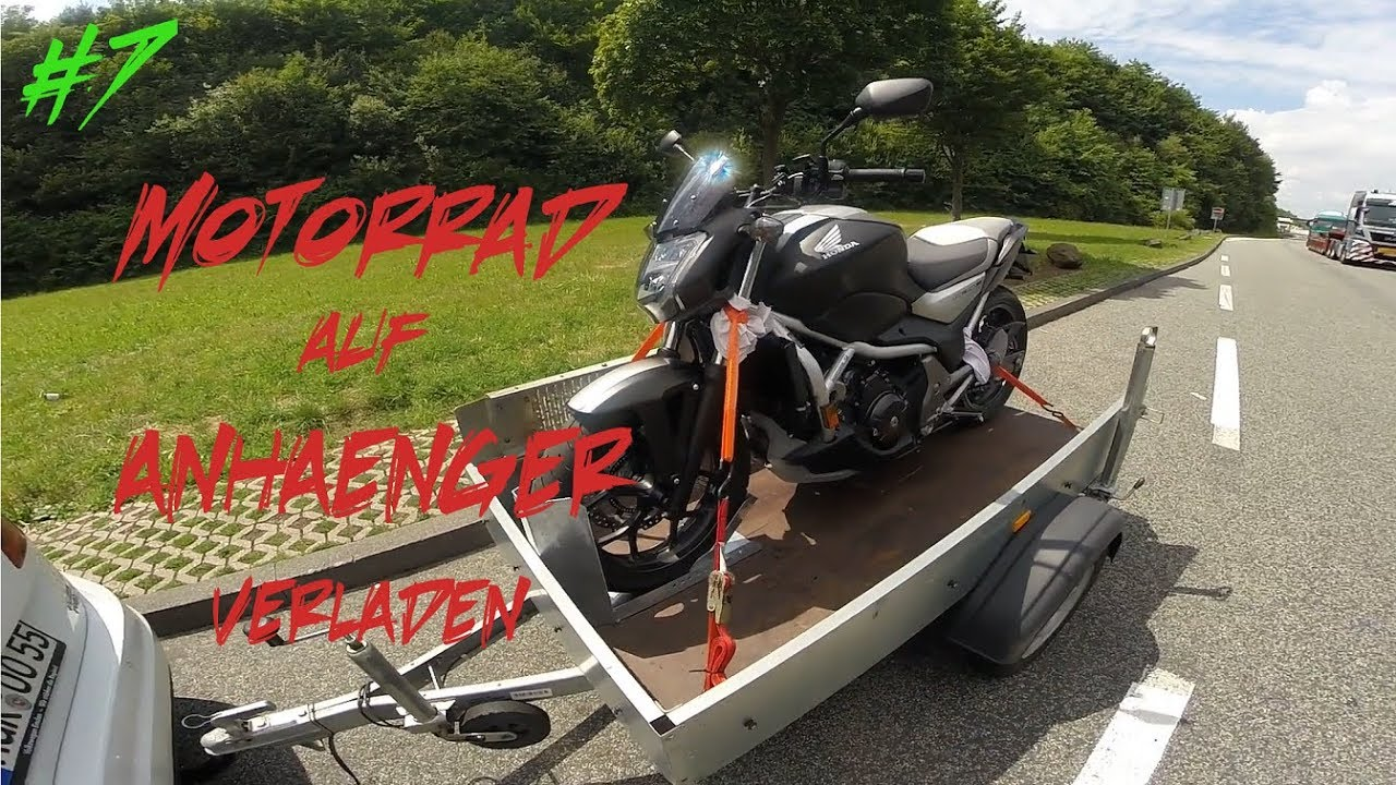 werkstatt tutorial motorrad auf anh nger transportieren. Black Bedroom Furniture Sets. Home Design Ideas