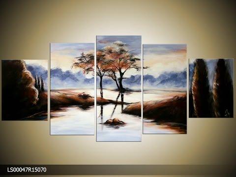 Schilderij met natuur landschap kopen bij for Schilderij natuur