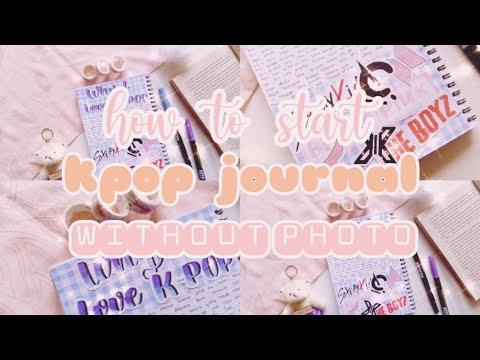 DIY Kpop Journal tanpa foto🌼   Journal Time w/me☘