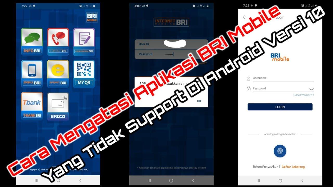 Cara Mengatasi Aplikasi BRI Mobile || Yang Tidak Support ...