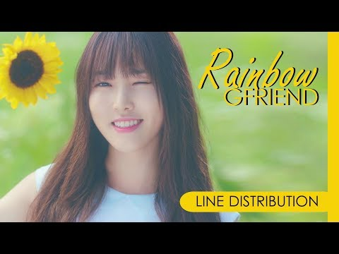 GFRIEND - RAINBOW   Line Distribution