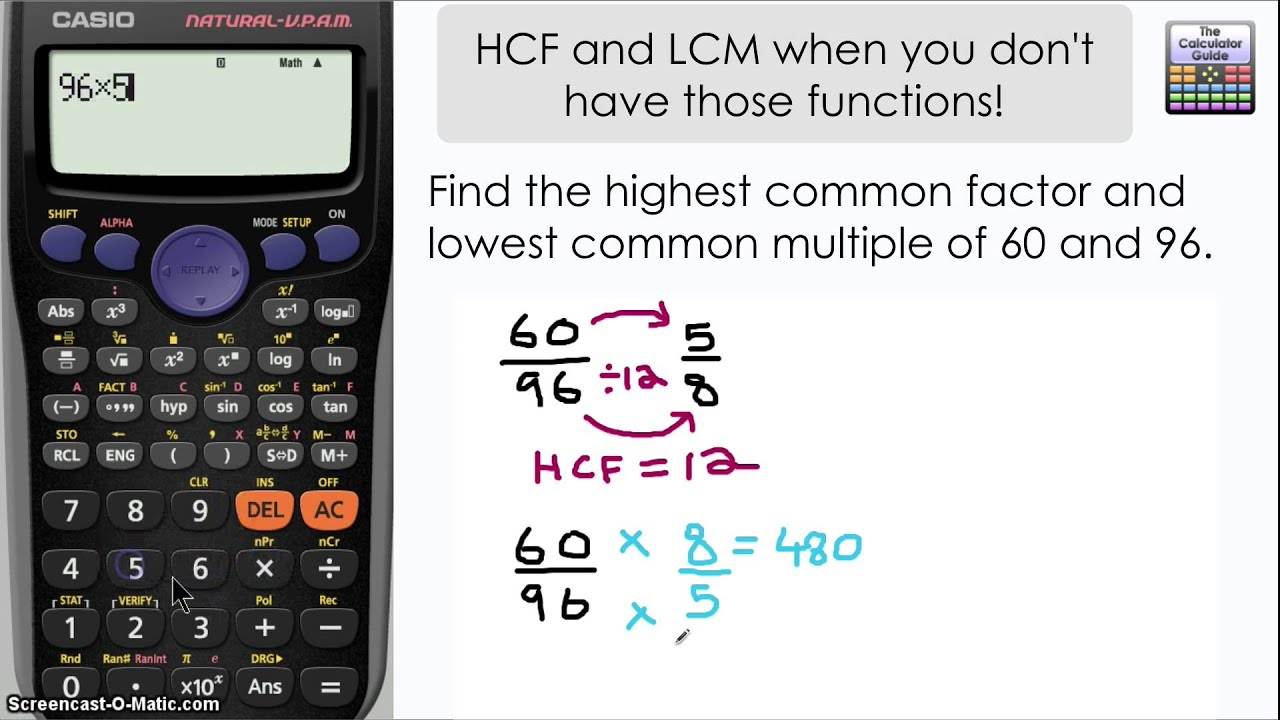 Find Highest Common Factor Lowest Common Multiple No Gcdlcm