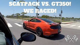 Challenger ScatPack Vs. Mustang Shelby GT350! WHO'S REALLY FASTER!?