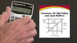 Construction Master Pro Trig Commons, 45/non-45 degree Hips, Valleys and Jack Rafters How To