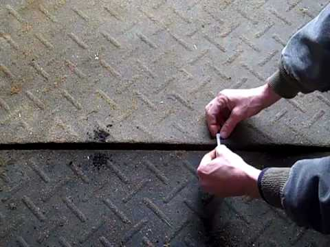 How To Fix Rubber Horse Stall Mats That Won T Stay Down Youtube