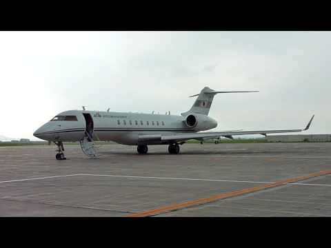 JCAB Flight Inspection , JA005G , Bombardier BD-700-1A10 Global Express @ Asahikawa Airport , Japan