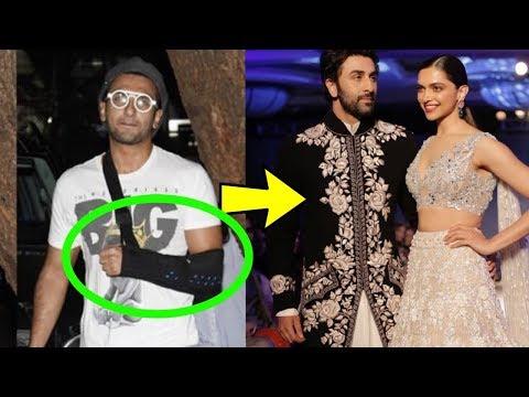 Ranveer Singh injures his hand after Deepika Padukone and Ranbir Kapoor walk ?